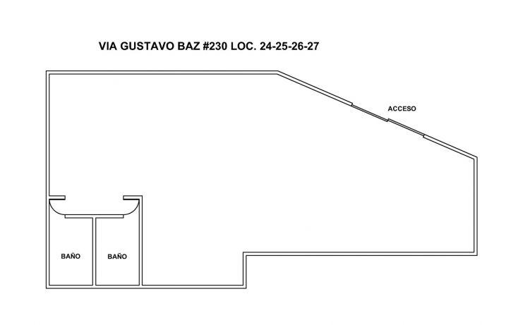 Foto de local en renta en vía gustavo baz 230 int2427, tequexquinahuac parte alta, tlalnepantla de baz, estado de méxico, 1938933 no 01