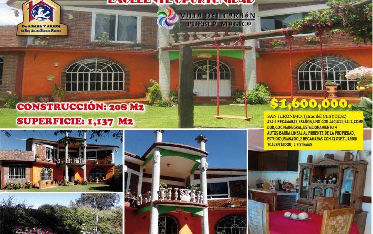 Foto de casa en venta en, villa del carbón, villa del carbón, estado de méxico, 1974703 no 01