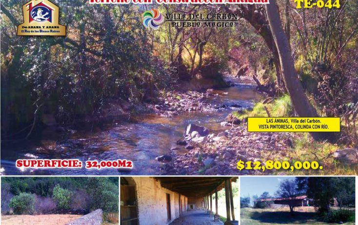 Foto de terreno habitacional en venta en, villa del carbón, villa del carbón, estado de méxico, 1974711 no 01