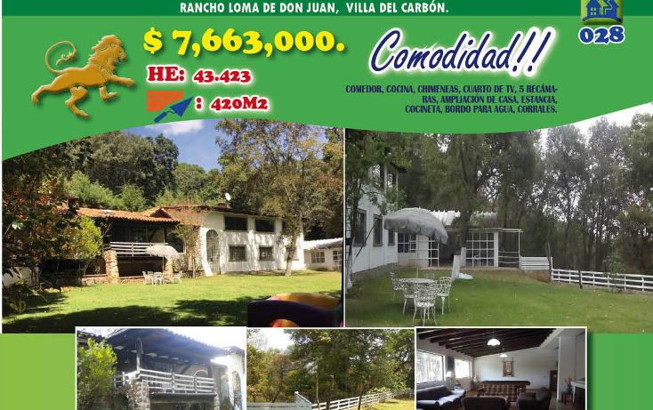 Foto de rancho en venta en  , villa del carb?n, villa del carb?n, m?xico, 1974715 No. 01