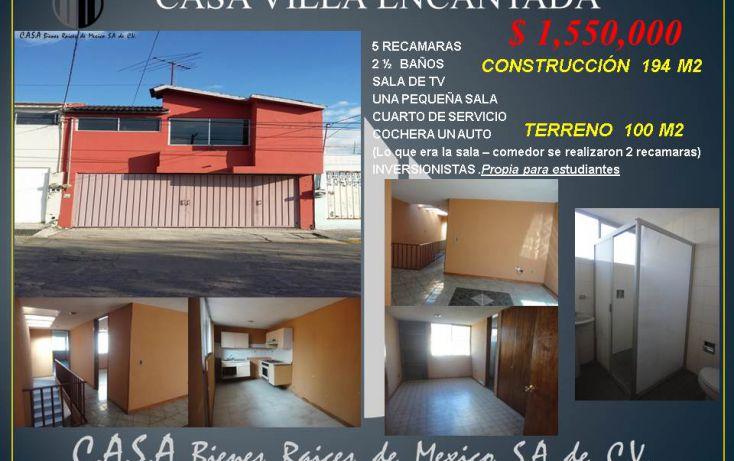 Foto de casa en venta en, villa encantada, puebla, puebla, 1785460 no 01
