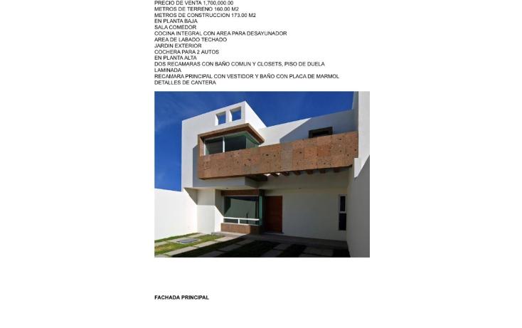 Foto de casa en venta en  , villa magna, san luis potosí, san luis potosí, 1123057 No. 01