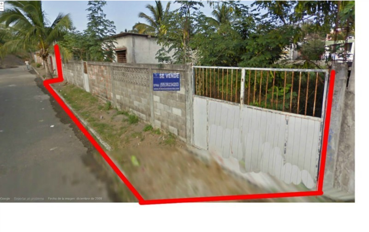 Foto de terreno habitacional en venta en  , villa rica, boca del r?o, veracruz de ignacio de la llave, 449033 No. 01