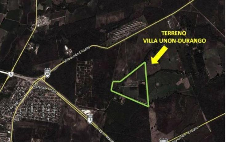 Foto de terreno habitacional en venta en villa union carretera durango , villa unión centro, mazatlán, sinaloa, 605934 No. 03