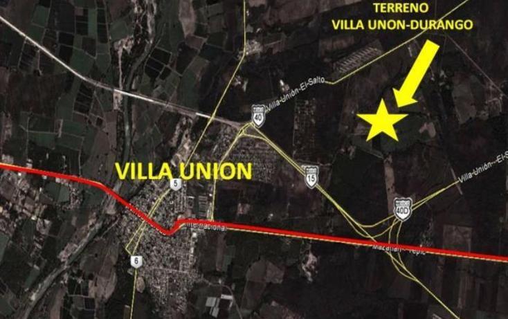 Foto de terreno habitacional en venta en villa union carretera durango , villa unión centro, mazatlán, sinaloa, 605934 No. 02
