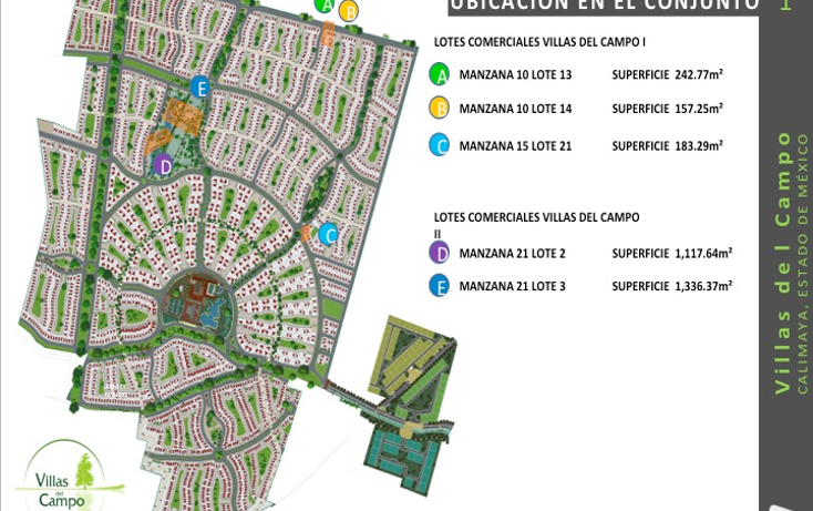 Foto de terreno comercial en venta en  , villas del campo, calimaya, méxico, 1555682 No. 01