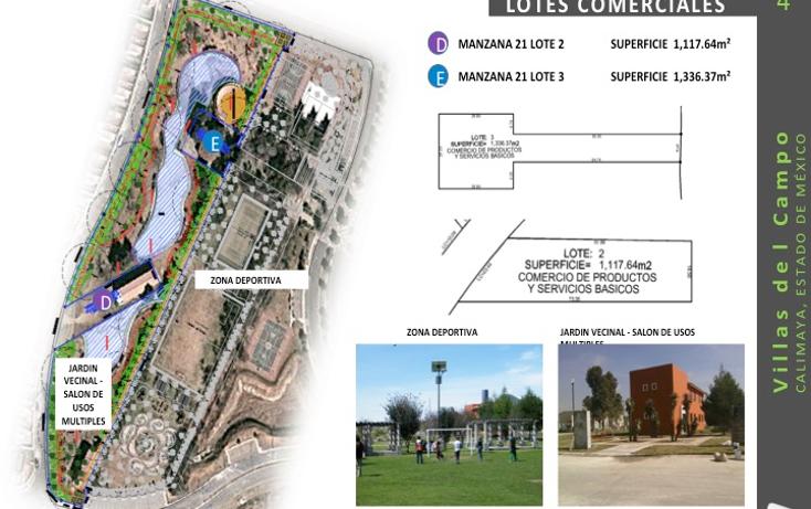 Foto de terreno comercial en venta en  , villas del campo, calimaya, méxico, 1555682 No. 05
