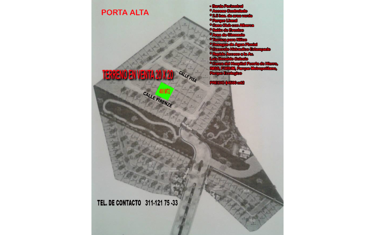 Foto de terreno habitacional en venta en  , villas del parque, tepic, nayarit, 1738330 No. 07