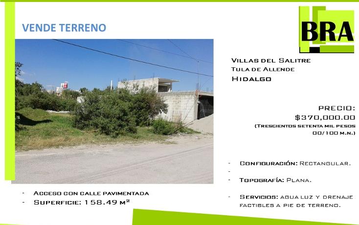 Foto de terreno habitacional en venta en  , villas del salitre, tula de allende, hidalgo, 1466713 No. 01