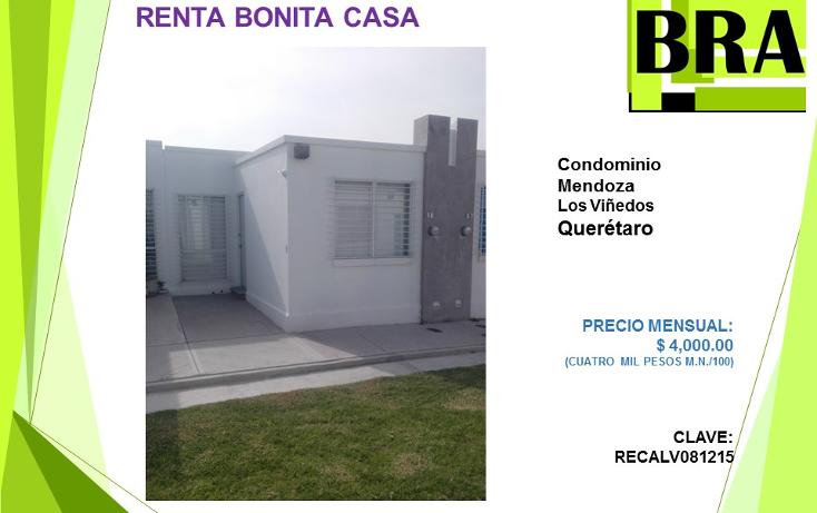 Foto de casa en renta en  , viñedos, querétaro, querétaro, 1555208 No. 01