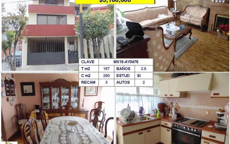 Foto de casa en venta en  , viveros de la loma, tlalnepantla de baz, méxico, 954691 No. 01