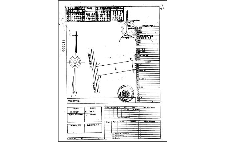 Foto de terreno comercial en venta en  , xcanatún, mérida, yucatán, 1251471 No. 03