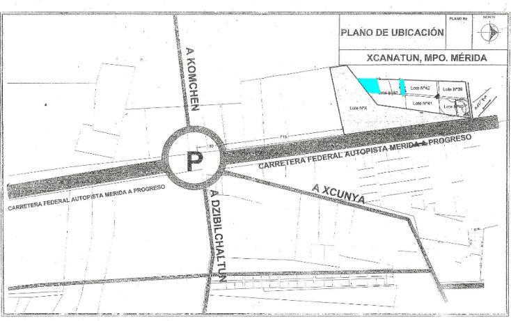 Foto de terreno habitacional en venta en, xcanatún, mérida, yucatán, 1291699 no 01
