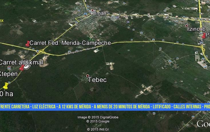 Foto de terreno habitacional en venta en kilometro 23 carretera uxmal-merida , xtepen, umán, yucatán, 2720157 No. 02