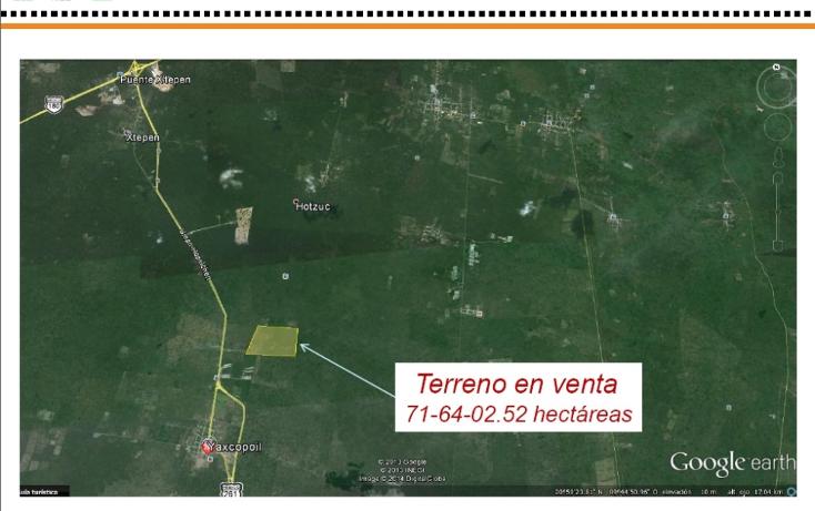 Foto de terreno comercial en venta en  , yaxcopoil, umán, yucatán, 1087235 No. 03