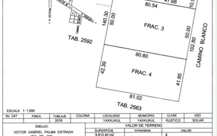 Foto de terreno habitacional en venta en, yaxkukul, yaxkukul, yucatán, 1778272 no 02