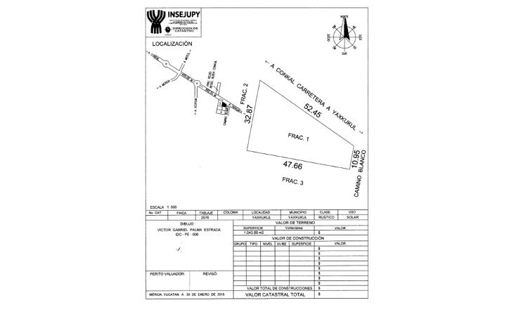 Foto de terreno habitacional en venta en  , yaxkukul, yaxkukul, yucat?n, 2042534 No. 03