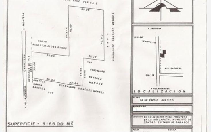 Foto de terreno comercial en venta en zapotal 12, el zapotal, centla, tabasco, 1988288 no 02