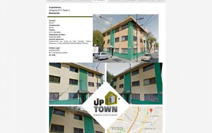 Foto de departamento en venta en zaragoza 171, buenavista, cuauhtémoc, df, 1381721 no 01