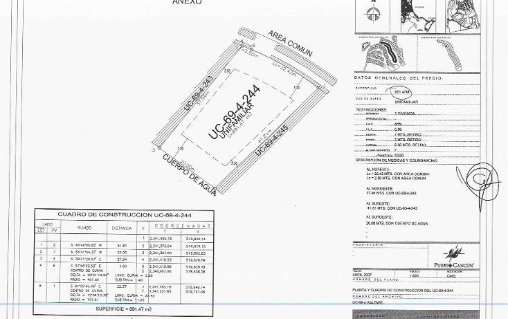 Foto de terreno habitacional en venta en  , zona hotelera, benito juárez, quintana roo, 1145819 No. 02