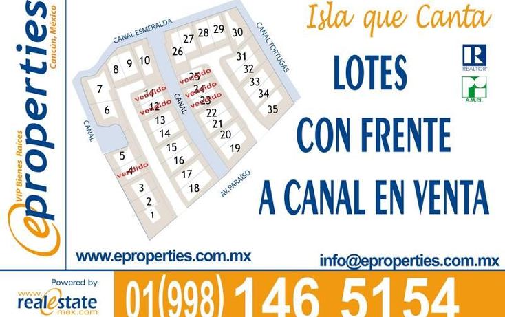 Foto de terreno habitacional en venta en  , zona hotelera, benito juárez, quintana roo, 1691222 No. 02