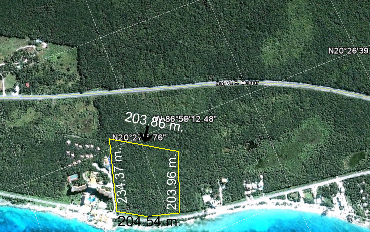 Foto de terreno comercial en venta en  , zona hotelera sur, cozumel, quintana roo, 946859 No. 03