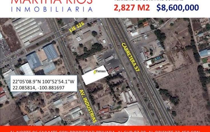 Foto de terreno comercial en venta en  , zona industrial, san luis potosí, san luis potosí, 1678670 No. 01