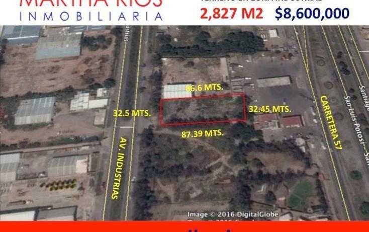 Foto de terreno comercial en venta en  , zona industrial, san luis potosí, san luis potosí, 1678670 No. 02