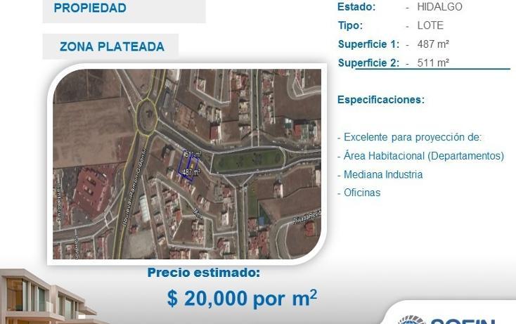 Foto de terreno habitacional en venta en  , zona plateada, pachuca de soto, hidalgo, 2715450 No. 01