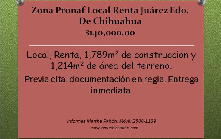 Foto de local en renta en  , zona pronaf, juárez, chihuahua, 1087263 No. 01