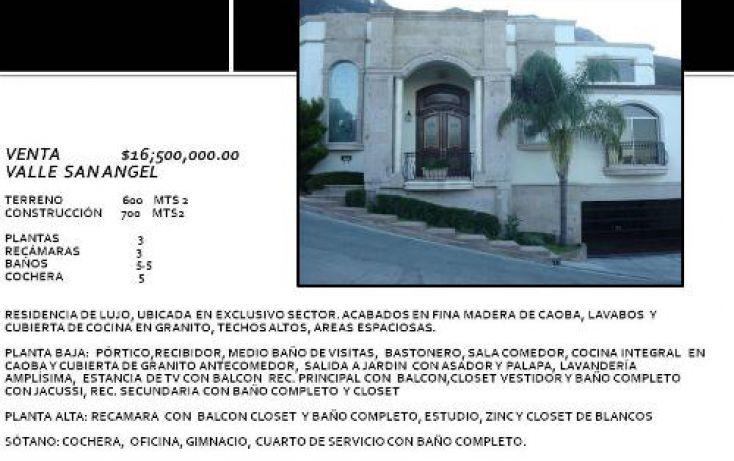 Foto de casa en venta en, zona valle san ángel, san pedro garza garcía, nuevo león, 521485 no 01