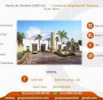 Foto de terreno habitacional en venta en 1 1, lomas de angelópolis ii, san andrés cholula, puebla, 1608800 no 01