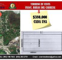 Foto de terreno habitacional en venta en  13, brisas del carrizal, nacajuca, tabasco, 2706186 No. 01