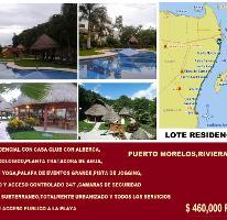 Foto de terreno habitacional en venta en Puerto Morelos, Benito Juárez, Quintana Roo, 2134860,  no 01