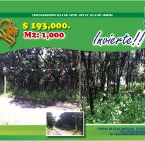 Foto de terreno habitacional en venta en Villa del Actor, Villa del Carbón, México, 2470031,  no 01