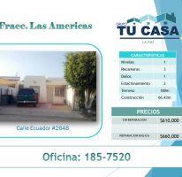 Foto de casa en venta en Las Américas, La Paz, Baja California Sur, 1772787,  no 01