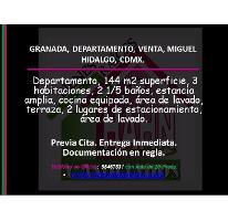 Foto de departamento en venta en  , ampliación granada, miguel hidalgo, distrito federal, 2985603 No. 01
