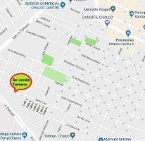Foto de terreno habitacional en venta en avenida santa cruz , san sebastián, chalco, méxico, 0 No. 01