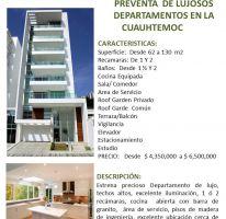 Foto de departamento en venta en Cuauhtémoc, Cuauhtémoc, Distrito Federal, 2037365,  no 01