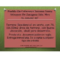 Foto de terreno habitacional en venta en  , calacoaya, atizapán de zaragoza, méxico, 2601144 No. 01