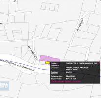 Foto de terreno habitacional en venta en carr federal a cuernavaca 7008, san andrés totoltepec, tlalpan, df, 2438627 no 01