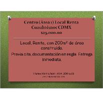 Foto de local en renta en  , centro (área 1), cuauhtémoc, distrito federal, 1086995 No. 01