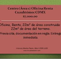 Foto de oficina en renta en  , centro (área 1), cuauhtémoc, distrito federal, 1301965 No. 01