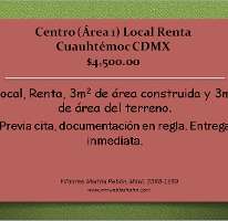 Foto de local en renta en  , centro (área 1), cuauhtémoc, distrito federal, 2593027 No. 01