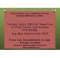 Foto de terreno habitacional en venta en, colina del sur, álvaro obregón, df, 2142344 no 01