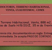 Foto de terreno habitacional en venta en, doctores, cuauhtémoc, df, 2015530 no 01