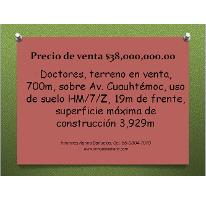 Foto de terreno comercial en venta en  , doctores, cuauhtémoc, distrito federal, 947957 No. 01