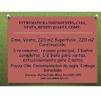 Foto de casa en venta en  , extremadura insurgentes, benito juárez, distrito federal, 2368982 No. 01