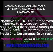 Foto de departamento en venta en  , jamaica, venustiano carranza, distrito federal, 3956543 No. 01