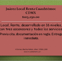 Foto de local en renta en  , juárez, cuauhtémoc, distrito federal, 2627523 No. 01